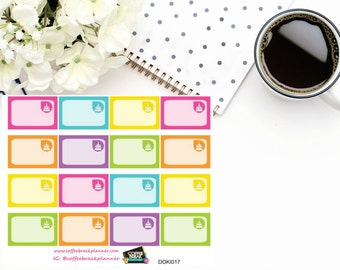 Birthday Cake Assorted Rainbow Colored 1/3 boxes for Doki Discagenda| Planner Stickers| Dokibook Discagenda| Personal Planner| DOKI017