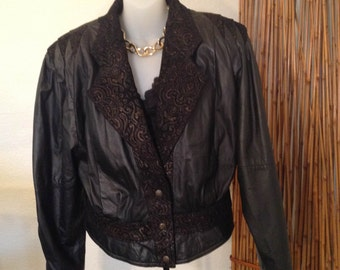 ON SALE NOW!! Vintage Leather Bomber!