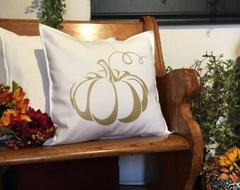 Gold Pumpkin 18x18 Pillow Case