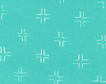 Trellis - Turquoise - 1/2 Yard -  From Brush Strokes by Holly DeGroot for Cloud9 Fabrics