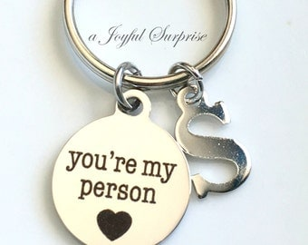 Youre My Person Key Chain, BFF KeyChain, Best Friends Keyring, You are My Person Gifts , You're Coworker Mom Fiance Gift Girlfriend Jewelry