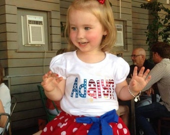 Stars and Stripes personalized shirt, patriotic name shirt, fourth of july personalized shirt