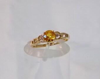 Lovely Golden Yellow Sapphire Ring