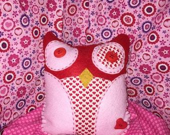Valentine Plush Owl
