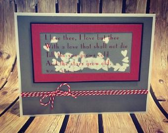 Handmade Love Quote Valentine Greeting Card