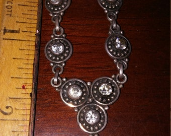 Sterling and White Topaz Nexklace