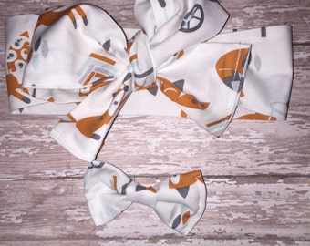 Curious fox headwrap, one size fits all!