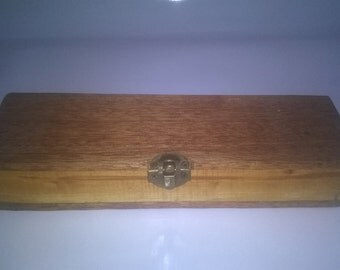 Keepsake, Pencil, Paint brush case, Hand made with Rhododendron from Alnwick, Northumberland
