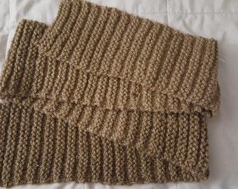 Knit Scarf, Gold