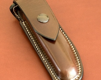 Case knife hand-stitched leather