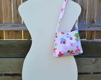 Forest Animals 'Isabella' Girls Bag, small bag, handmade bag, girls purse
