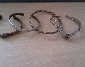 4 vintage bangles