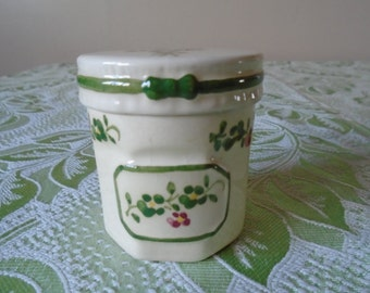 ceramic herb jar/ pot
