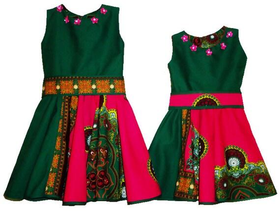 Girls Dress/Girls Church Dress/Children&39s Dresses/Printed