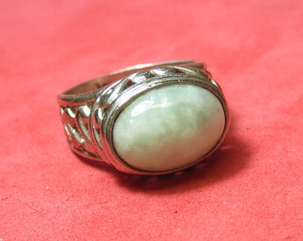 Vintage silver with Color Jewel size 7  1/2