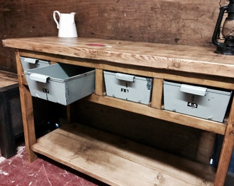 Reclaimed Pine Industrial Sideboard
