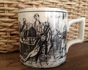 English pottery mug