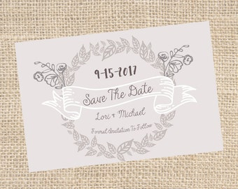 Minimalistic Save The Date