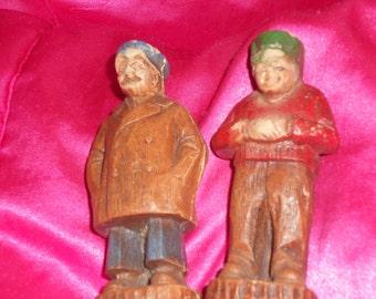 Pair of Antique Fisherman