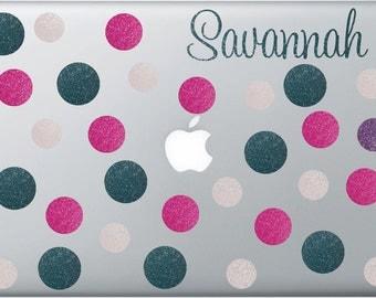 Glitter Laptop Skins - Glitter Decals - Glitter Laptop Decals - Custom Laptop Decals - Computer Decals - Macbook Personalization - Macbook S