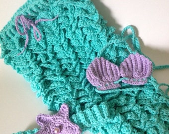 Mermaid photo prop, mermaid costume, baby mermaid outfit, toddler mermaid outfit, mermaid outfit, first birthday outfit, mermaid tail