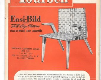 Vintage 1948 Build it Yourself Easi-Bild NO 92 Modern Chair Woodworking Pattern