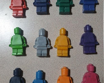 Lego Crayon Men - One Dozen - Party Favors - 12 Lego Men