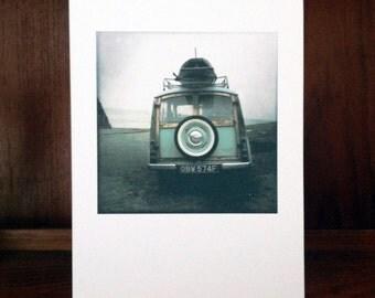 "Original photographic art photocard. 5"" x 7"". Morris Traveller"