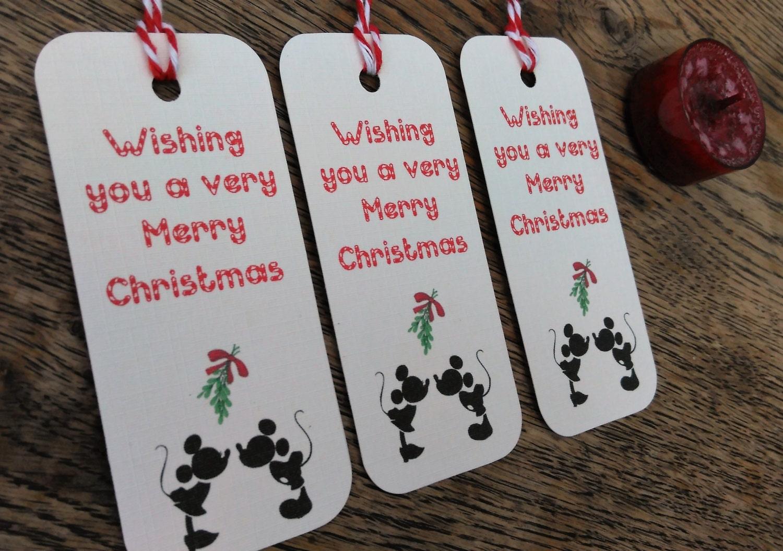Disney Christmas Gift Tags Mickey And Minnie Mouse Christmas