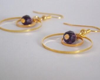 Earrings chic ring interspersed