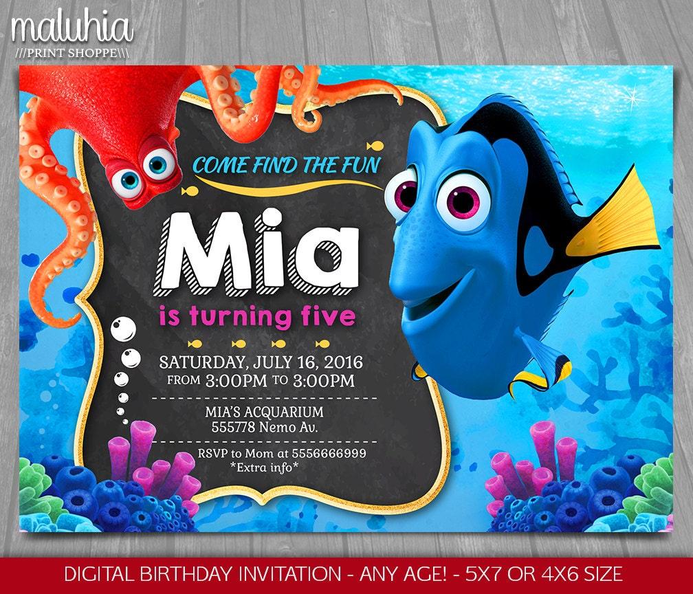 nemo cake template - finding dory invitation finding nemo invite disney pixar
