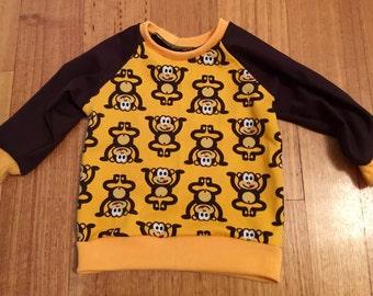 Handmade size 0 monkey sweater