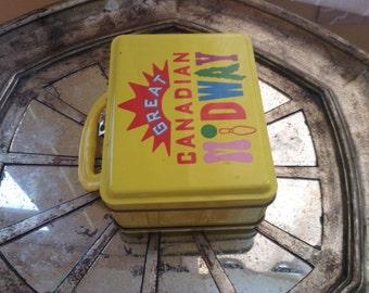 Box of yellow metal, Niagara Fall, Canada