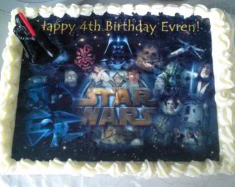 Star wars cake topper, edible images, star wars party