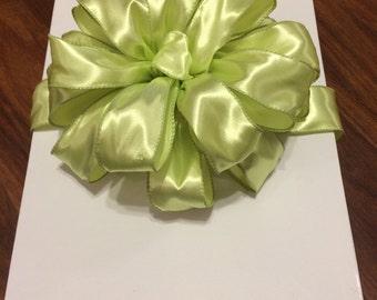 Green Satin Bow