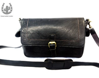 Camera-Man leather Messenger bag