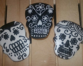 Day of the Dead black and white cookies