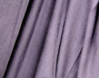 Merino wool knit fabric in eggplant, pure New Zealand wool jersey fabric, more colors, sewing supplies, natural wool fabric,  by 1/2 yard