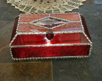 Stained Glass Treasure Box