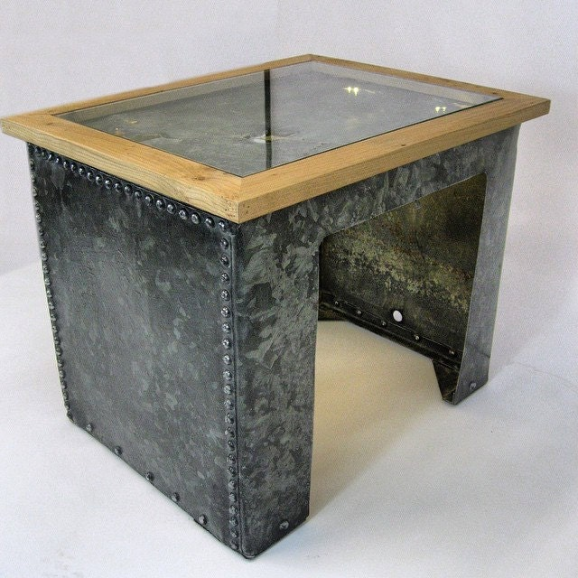 Cambridge Reclaimed Galvanised Water Tank Coffee Table With