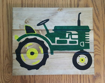 Tractor Wood Sign