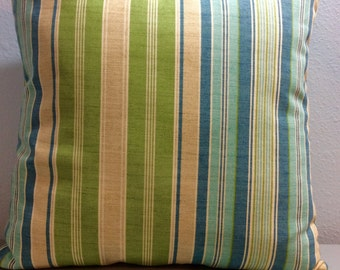 Striped Pillow Cover-Tropical Pillow-Nautical Pillow-Beach Pillow-Lake Pillow-Coastal Pillow-Boat Pillow