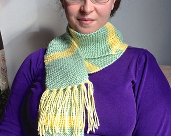 Green & Yellow Adult Scarf