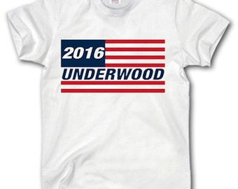 Frank Underwood T Shirt S-XXXL Vote 2016 For President House Of Cards