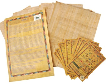 20 Blank Egyptian Papyrus Sheets for Art Projects and Schools 8x12in 20x30cm