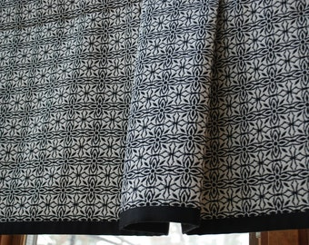 Custom Black and Cream Banded Valance