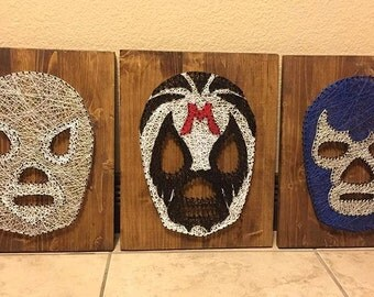 MADE TO ORDER Luchador Mask String Art