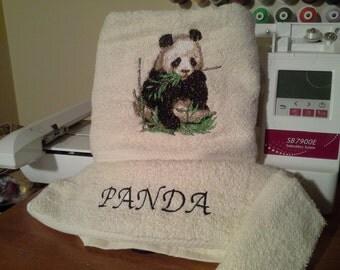 Panda Towel Set