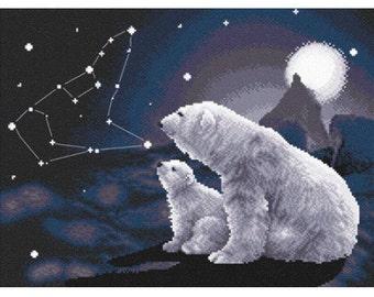 Cross Stitch Kit Polar night