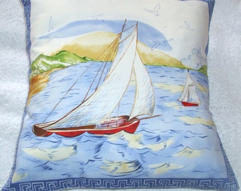 Sailng Yachts on a tropical sea cushion